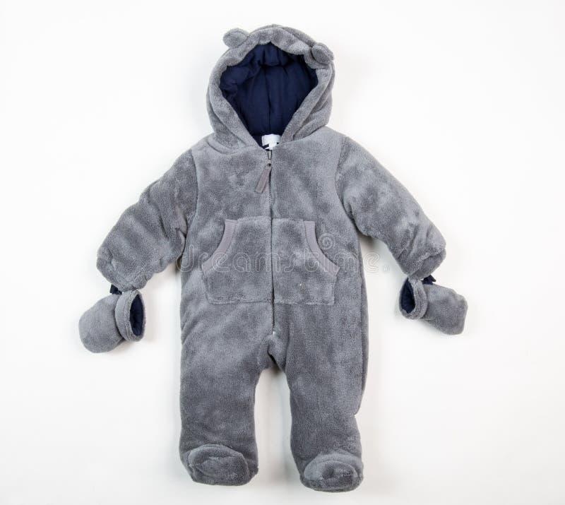 Leuk warm kostuum voor kleine kinderen royalty-vrije stock afbeelding