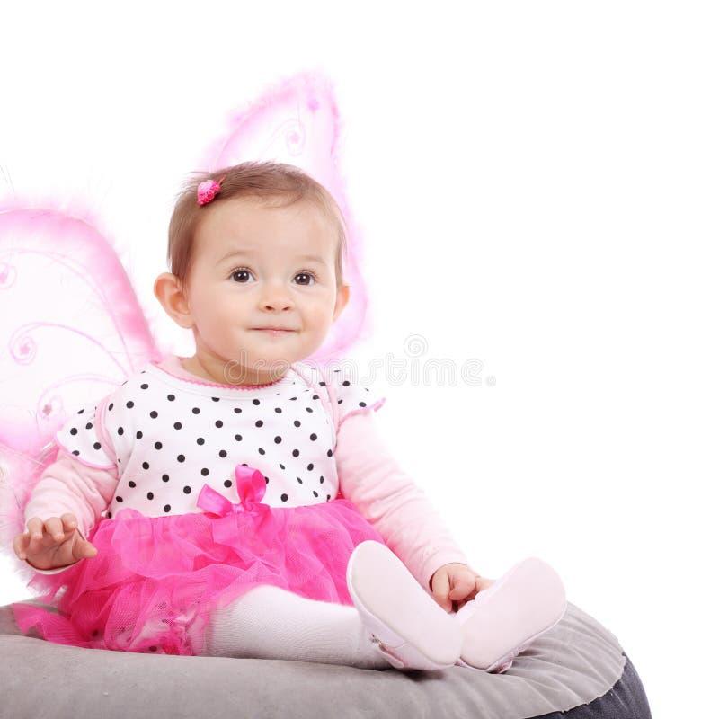 Leuk weinig babymeisje stock foto