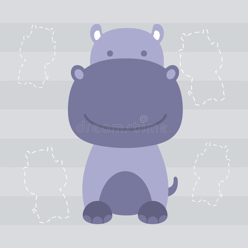 Leuk weinig de t-shirtontwerp en affiche van hippojonge geitjes vector illustratie