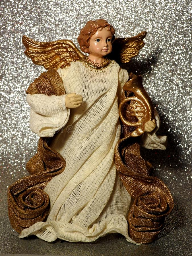Leuk weinig engel Gabriel stock fotografie