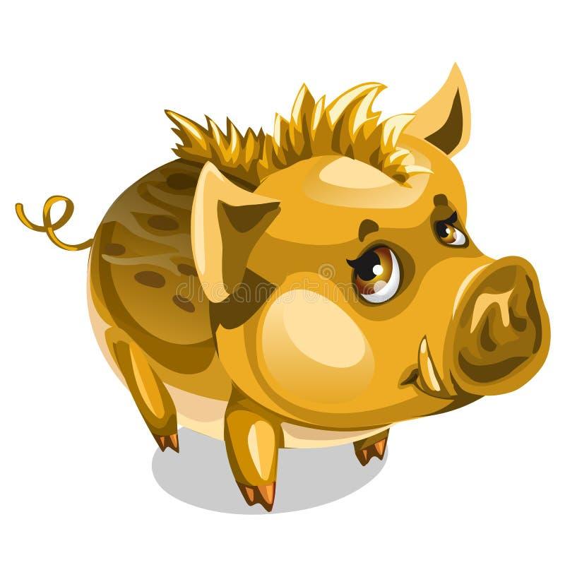 Leuk weinig Gouden beer Vector geïsoleerd dier royalty-vrije illustratie