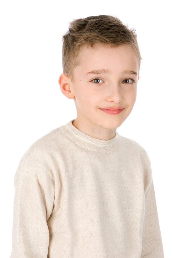 Leuk weinig jongen het glimlachen stock afbeelding