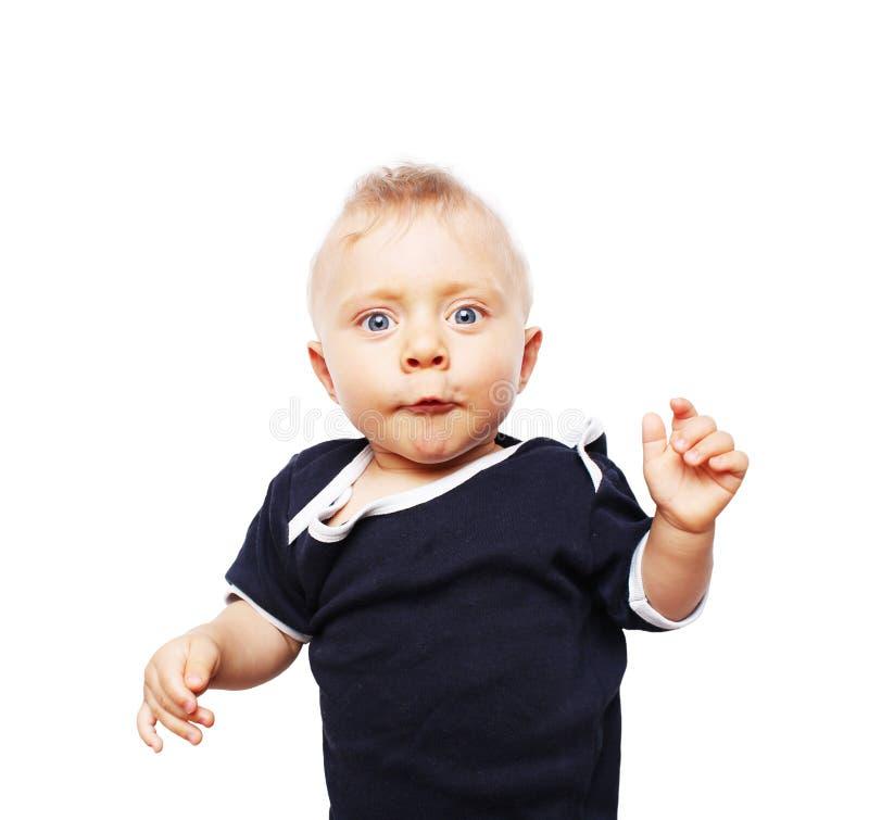 Leuk weinig jongen - zeven maanden oud royalty-vrije stock foto's