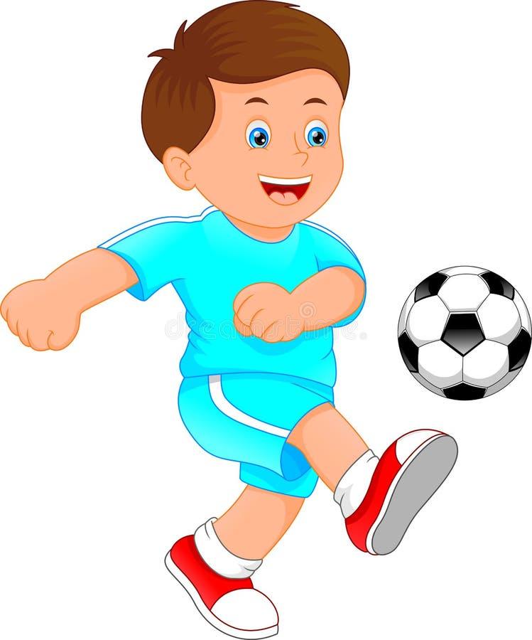 Leuk weinig jongensvoetballer royalty-vrije illustratie