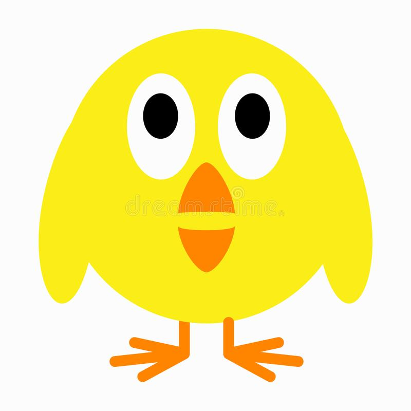 Leuk weinig kuikenvogel vector illustratie