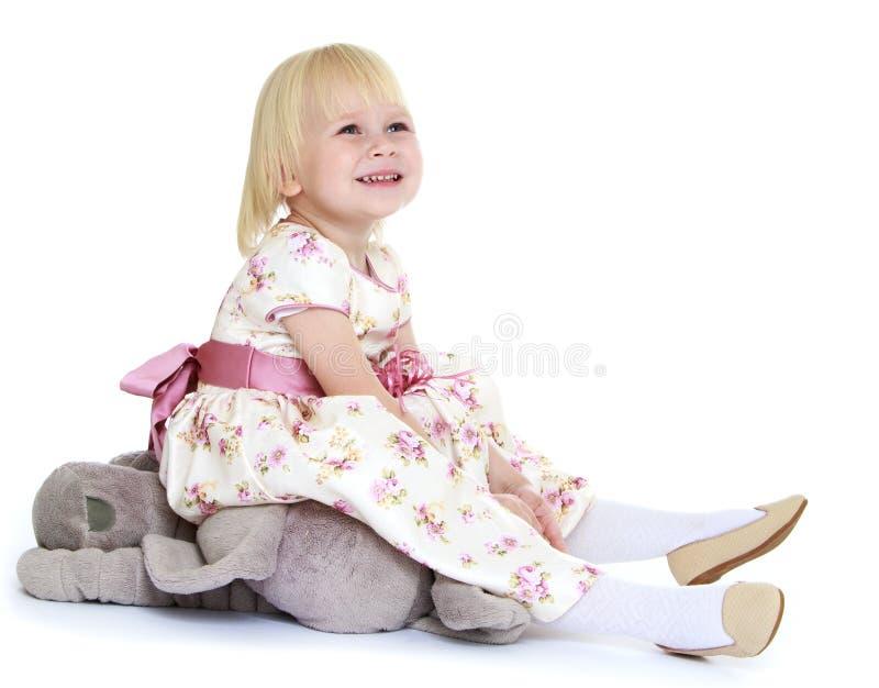 Leuk Weinig Meisje van de Blonde royalty-vrije stock fotografie