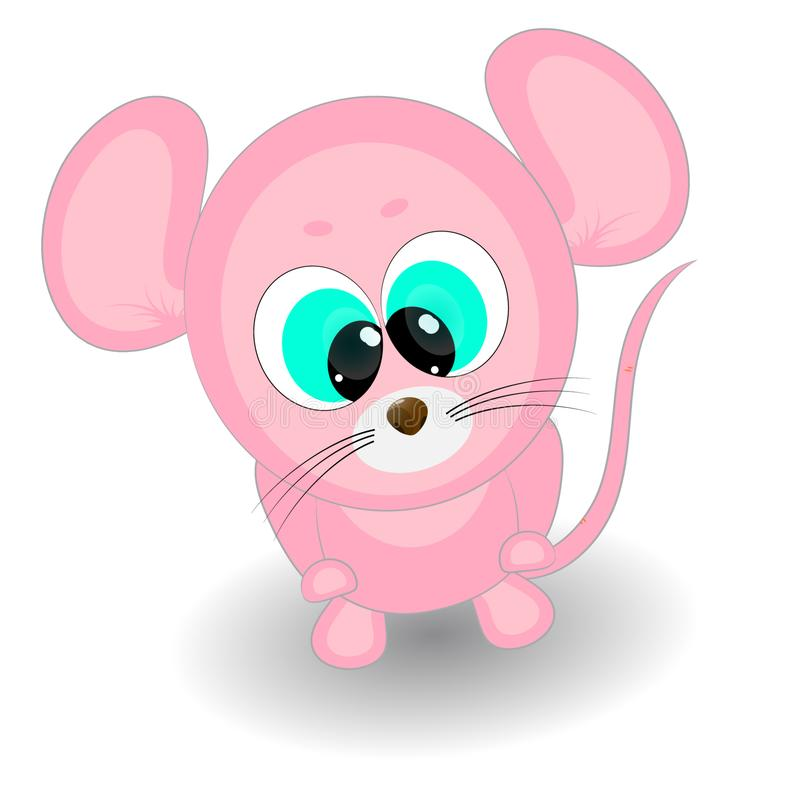 Leuk weinig muis De vectorillustratie van het beeldverhaal stock illustratie