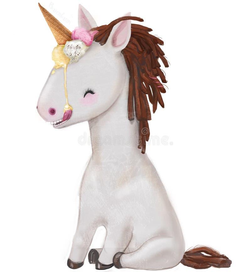 Leuk weinig poney stock illustratie