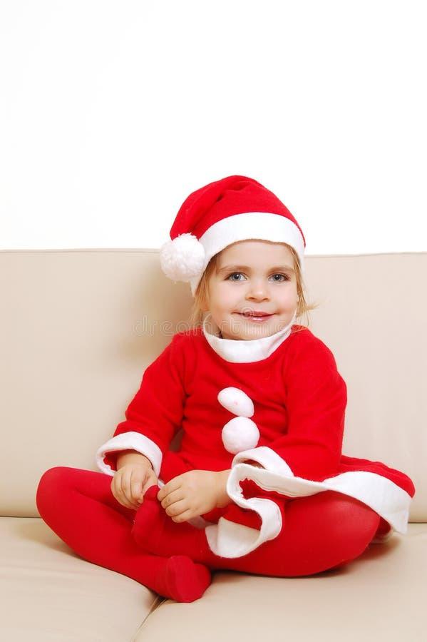 Leuk weinig santa stock foto's
