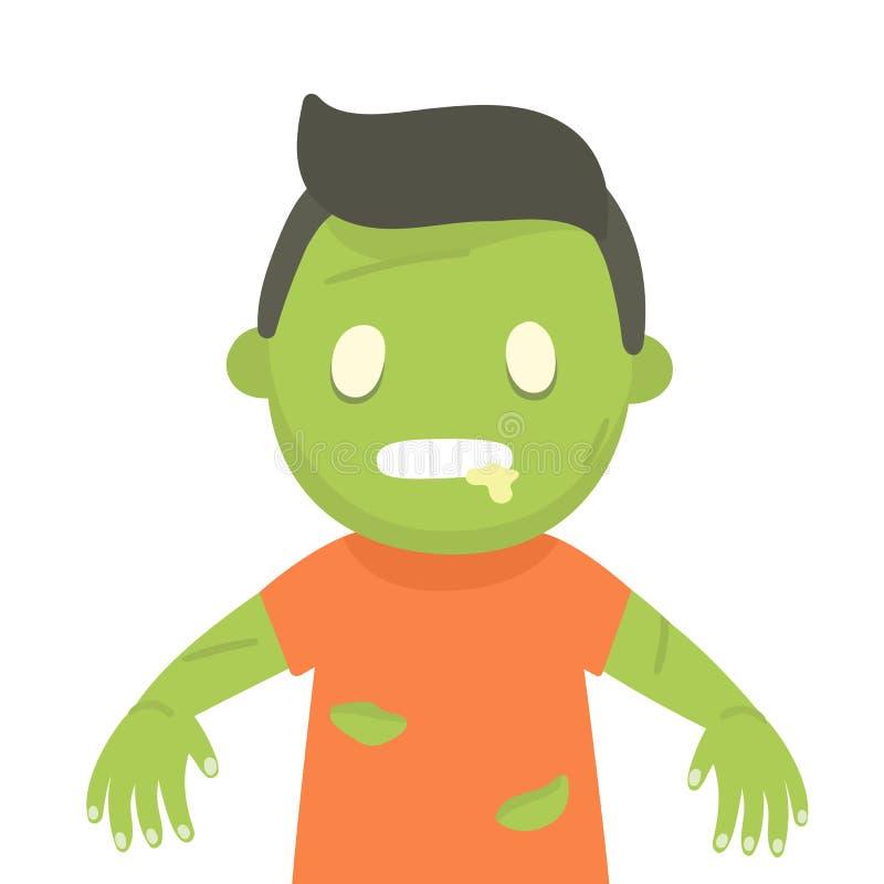 Leuk zombieportret Halloween stock illustratie