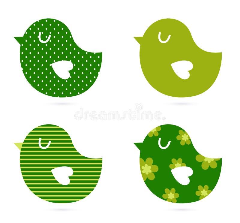 Leuke abstracte vogelsinzameling vector illustratie