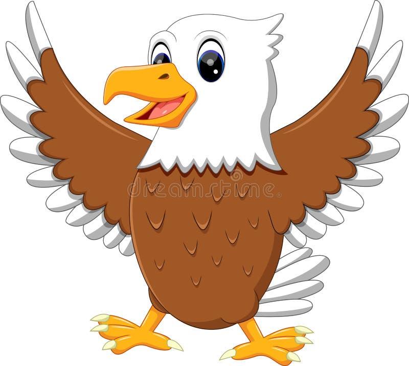 Leuke adelaar stock illustratie