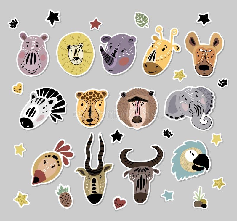 Leuke Afrikaanse Dieren royalty-vrije illustratie