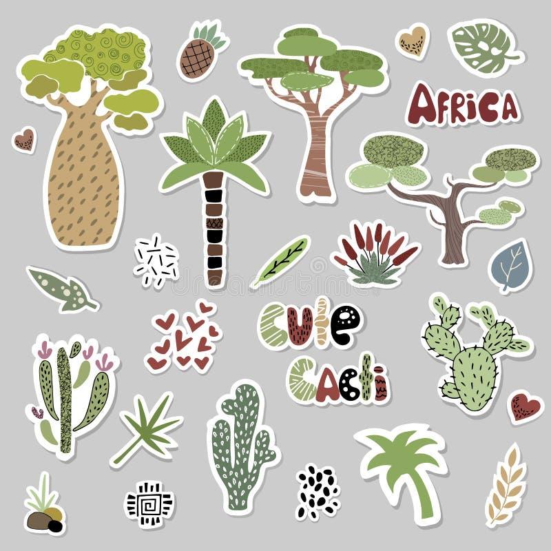 Leuke Afrikaanse Dieren vector illustratie