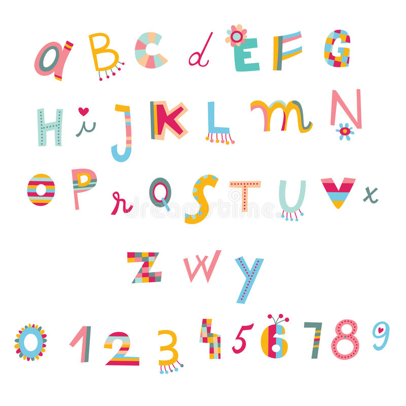 Leuke alfabet en aantallen