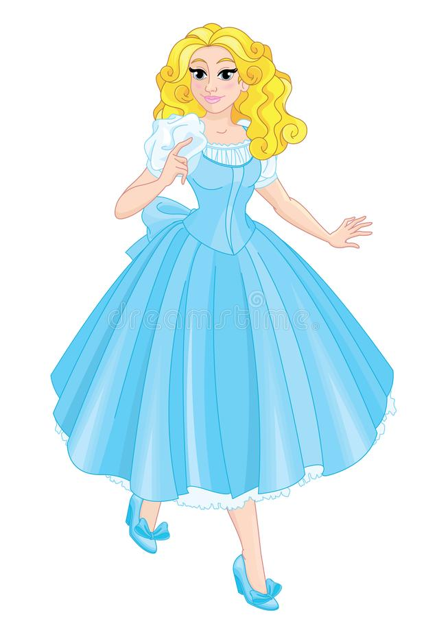 Leuke Alice met blond haar royalty-vrije illustratie