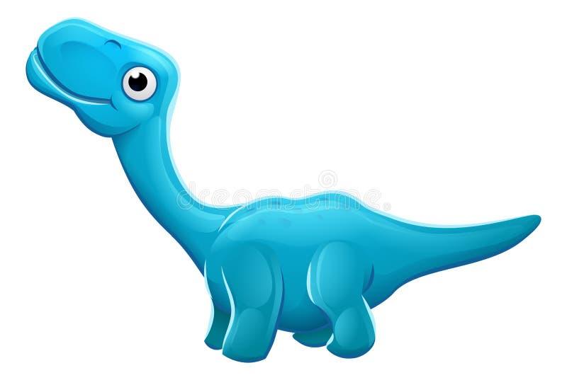 Leuke Apatosaurus-Beeldverhaaldinosaurus stock illustratie