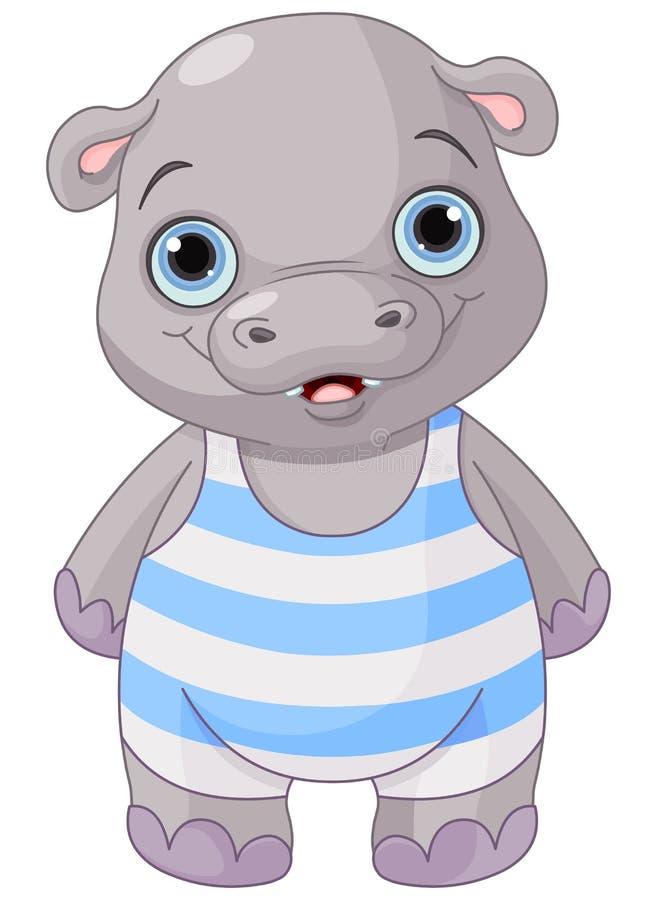 Leuke Baby Hippo vector illustratie