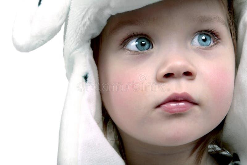 Leuke baby in hoed stock afbeeldingen