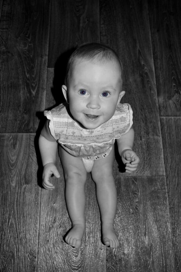 Leuke babyclose-up royalty-vrije stock fotografie