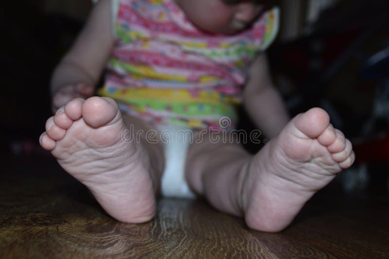Leuke babyclose-up stock fotografie