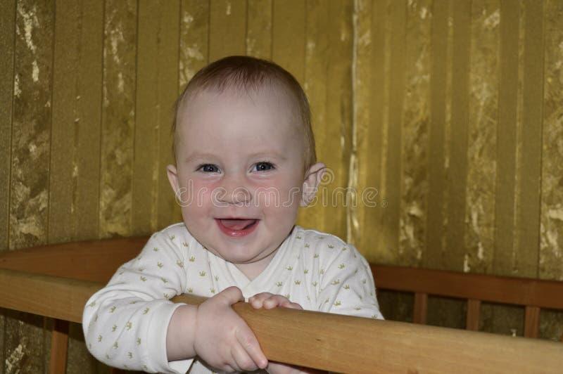 Leuke babyclose-up stock afbeelding
