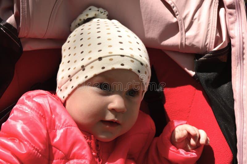 Leuke babyclose-up royalty-vrije stock afbeeldingen