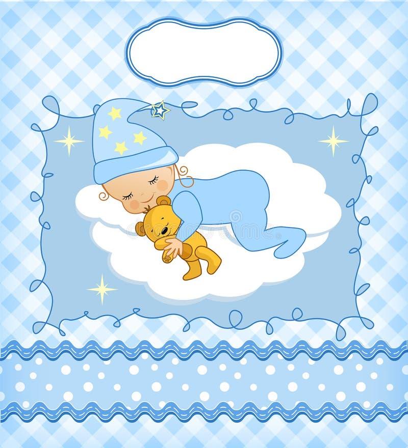 Leuke babykaart royalty-vrije illustratie