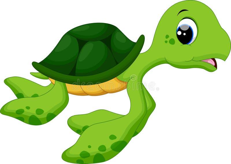 Leuke babyschildpadden vector illustratie