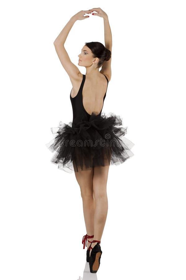 Leuke ballerina in pointe stock afbeelding