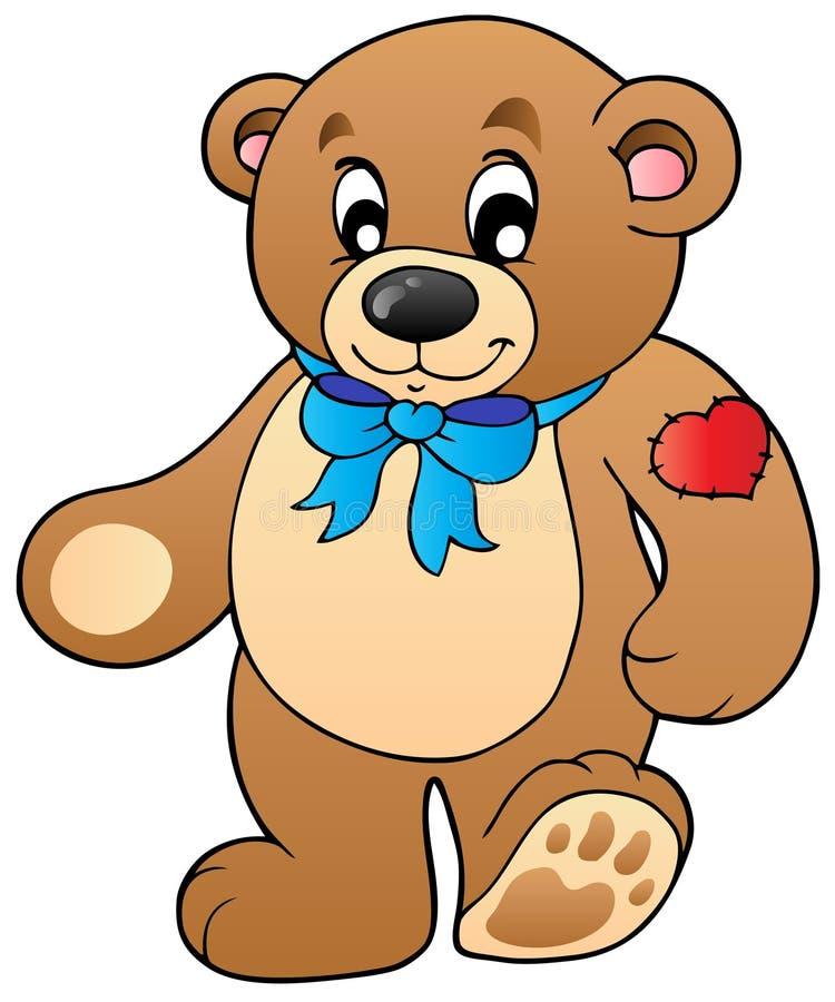 Leuke bevindende teddybeer stock illustratie