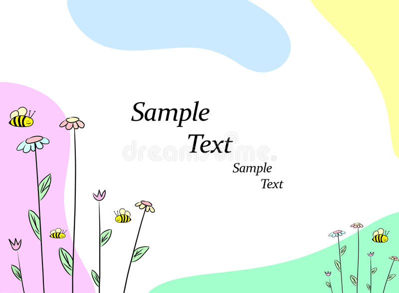 Leuke bloemenillustratie stock illustratie