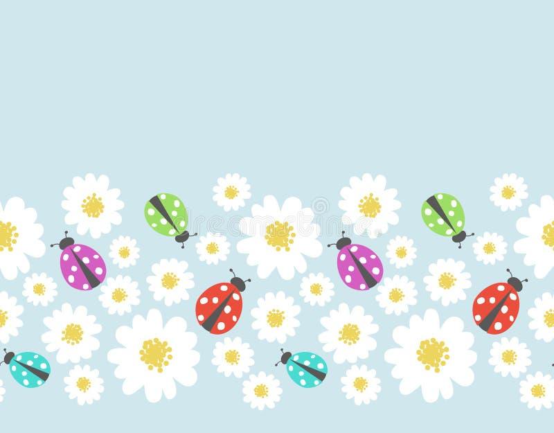 Leuke bloemenpatroongrens royalty-vrije illustratie