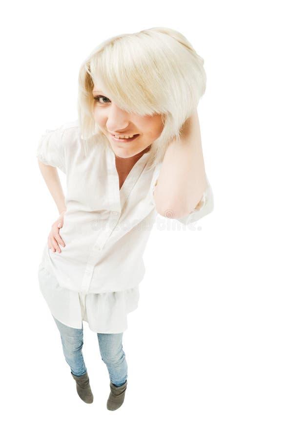 Leuke blonde tiener stock afbeelding