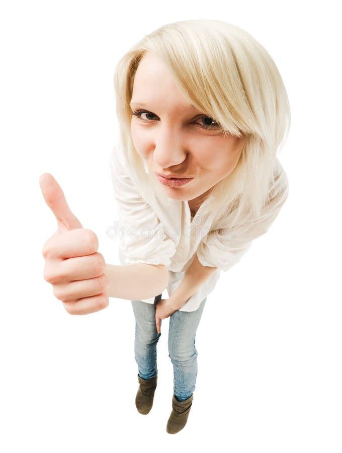 Leuke blonde tiener stock foto