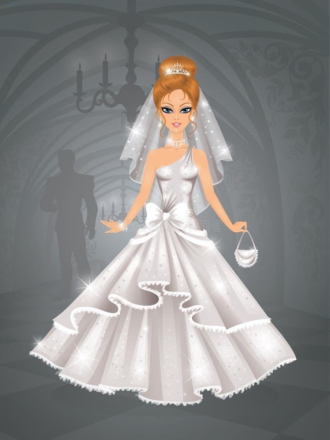 Leuke bruid. vector illustratie