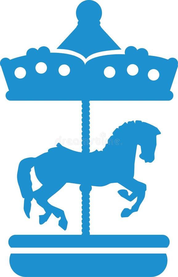 Leuke Carrousel met paard royalty-vrije illustratie