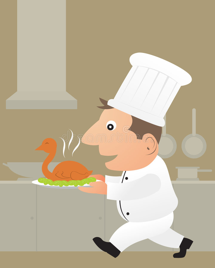 Leuke chef-kok vector illustratie