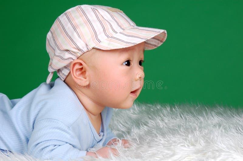 Leuke Chinese zuigelingsbaby royalty-vrije stock afbeelding