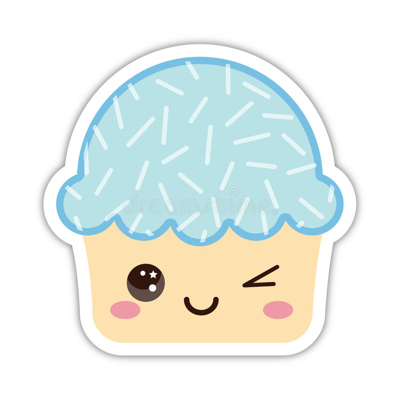 Leuke cupcake stock illustratie