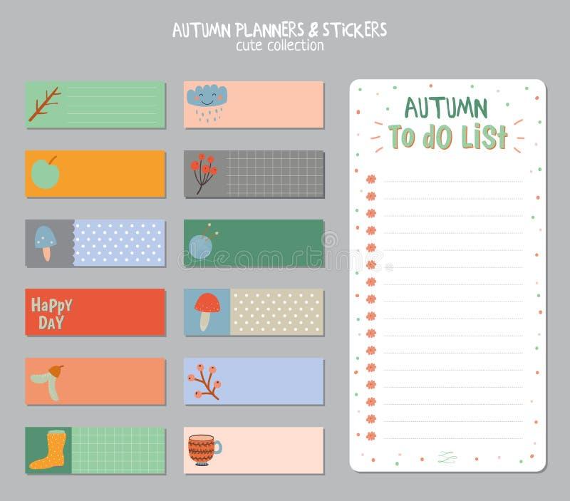 Leuke Dagelijkse Kalender en om Lijstmalplaatje te doen royalty-vrije illustratie