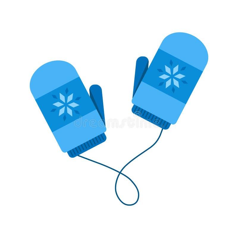Download Leuke De Winter Blauwe Vuisthandschoenen Met Koord Vector Illustratie - Illustratie bestaande uit vlak, licht: 107703220