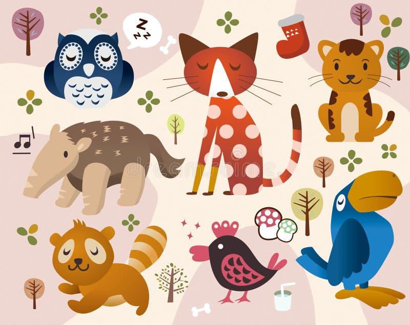 Leuke dierlijke dierentuin vector illustratie