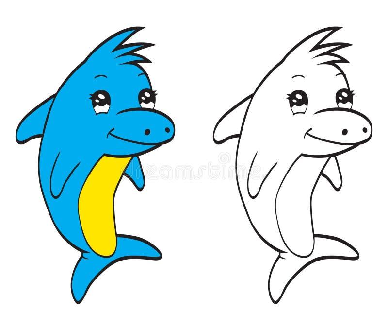 Leuke dolfijn vector illustratie