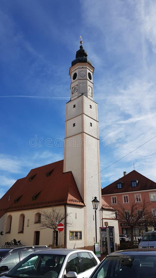 Leuke Duitse kerk royalty-vrije stock foto