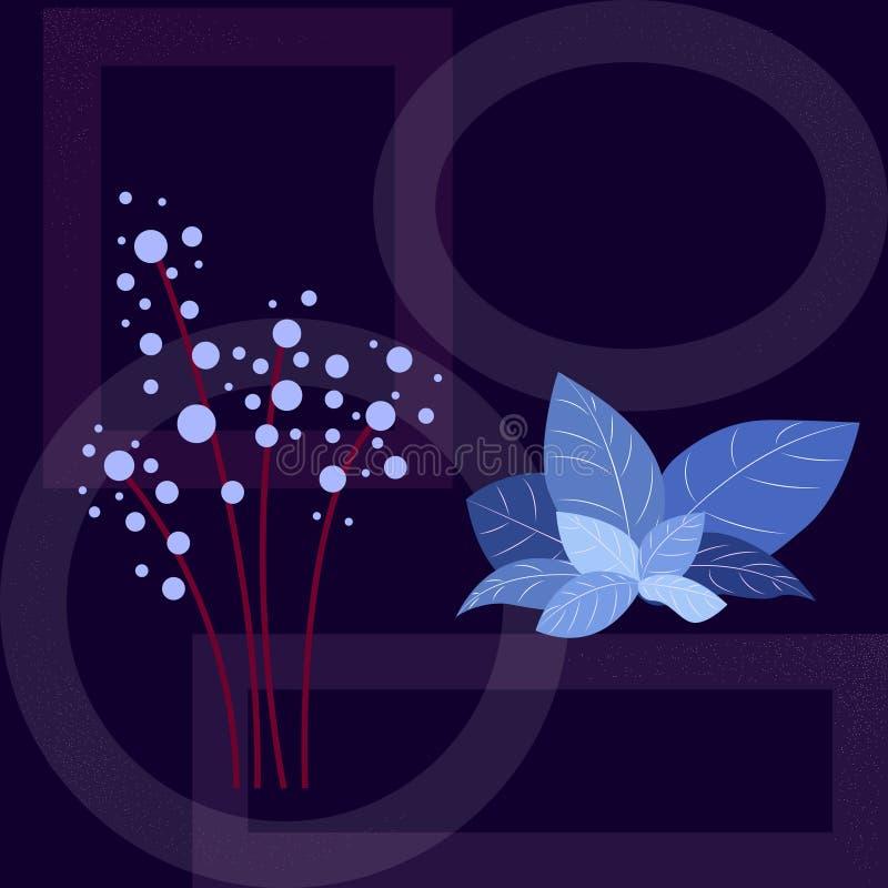 Leuke eenvoudige universele bloemenprentbriefkaar of achtergrond Modern grafisch ontwerp Ideaal voor Web, de dekkingsuitnodiging  royalty-vrije illustratie