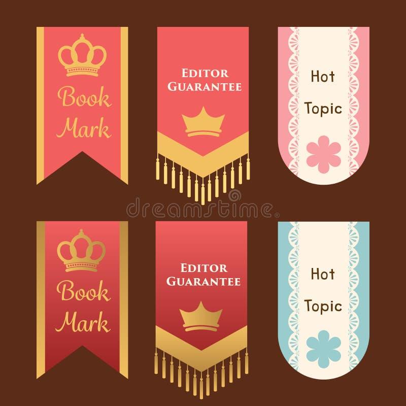 Leuke en elegante referentie of het malplaatje s van het van de bevorderingsvlag of lint royalty-vrije illustratie