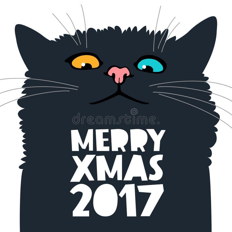 Leuke en grappige kat vector illustratie