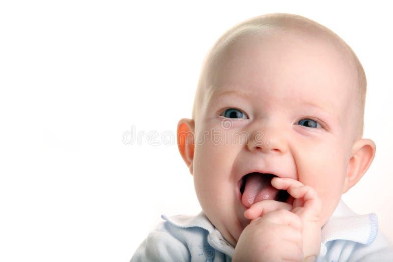 Leuke gelukkige baby royalty-vrije stock foto's
