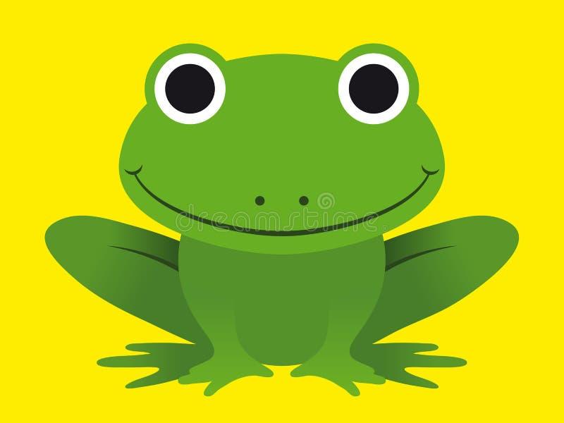 Leuke gelukkige het glimlachen groene kikker vector illustratie
